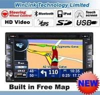 "2013 New 2 Din 6.2"" Digital Touch Screen Car DVD GPS Navigation Bluetooth Phone Stereo Radio IPOD"