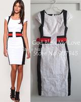 Latest DK077 Sporty Colourblock Dress White and Black Hot Sale