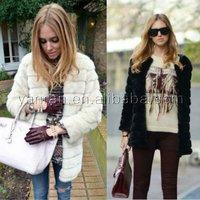 YR-028 Classic Sheared rabbit fur coat ~wholesale~retail