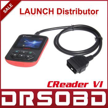 2014 wholesale 10pcs/lot Launch CReader VI OBD II code reader CReader6 SCANNER launch X431 Creader 6 DHL/EMS Free Shipping