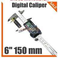 "150 mm 6"" Digital CALIPER VERNIER GAUGE MICROMETER free shipping EG108"