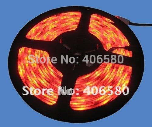 Free shipping , 5 M/roll 300 Leds RGB 5050 SMD led flexible light strip waterproof DC12V Christmas led strip light(China (Mainland))