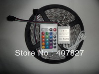 LED Strip RGB $4.5/M 60 LED/meter 5050 SMD flexible light Waterproof New + 24 Key Controller& IR Remote Free Shipping Decoration