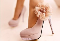 CooLcept D5614 high heel shoes wedding heels dress women heel flower diamond sexy platform 40% OFF size 35-43 factory price