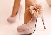 CooLcept D5614 high heel shoes wedding heels dress women heel flower diamond sexy platform 40% OFF size 35-43 factory price