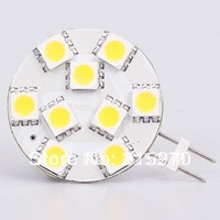 Free Shipping (AC/DC10-30V) G4 Led Lamp  9LED SMD 5050 12VAC/12VDC/24VDC/24VAC 180-198LM  White warm White 10pcs/lot