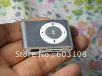 Wholesales free shipping 5 pcs per lot New Mini Micro SD/TF Card metal mp3 Clip Mp3 player mini mp3 usb player Black