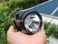 3W LED lithium battery IP65 free shipping cordless miners cap lamp fishing lamp fishing headlight