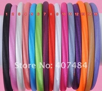 2013 new  wholesale  free shipping satin headbands 7mm plastic headbands,50pieces/lot