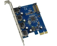 Free shipping-4 Port USB 3.0 PCI-e Card VIA chipset Super-Speed 5Gbps