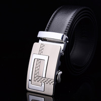 Men Waist Belt  New Arrival! 2015 new fashion spilt cowhide  leather silver alloy  buckle strap  Free shipping