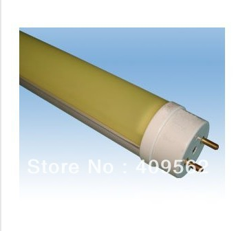 YELLOW COLORED LED TUBE 1.2m ,T8,anti-UV light,application in industry,semiconductor,PCB factory
