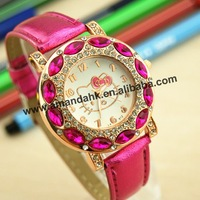 65pcs/lot,new arrival hello kitty wrist watch,high quality colorful crystal watch,cheap fashion wholesale watch.
