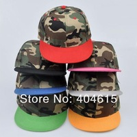 Wholesale adult popular hiphop flat military snapback hats women and men blank sports baseball caps