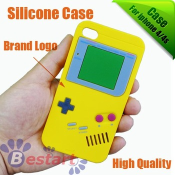 silicone case for Iphone 4G/4s, soft case for iphone 4/4s, hot sale item [100pcs], free shipping, gameboy