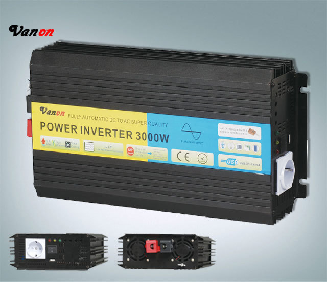 3000W/3KW 12Vdc to 220V ac Pure Sine Wave Power Inverter (6kw/6000w peak power) Free shipping(China (Mainland))