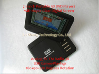 "100% New Model 7.8 "" Handheld 7.8 inch Portable Home DVD Players with Digital Screen 3D 270 Degrees Rotation + Freeshipping"