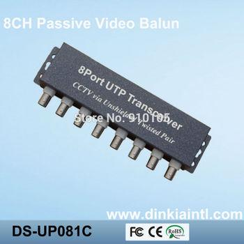 8 Channel CCTV video Balun+RJ-45 video inpout+400m transmit distance DS-UP081C
