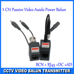 Free shipping UTP twisted pair 1 channel balun video power passive,power-video-date signal are routed via UTP & RJ45, DS-UP013C(Hong Kong)