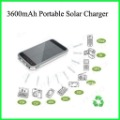 Solar charger 3600mAh mobile power bank external battery backup for cell phone/iphone /Samsung/LG/digital /mp3/mp4 Free Shipping