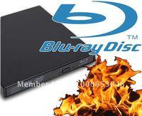 External Blu ray 6X Burner Writer 3D Reader USB 2.0 Drive 8X DVD CD RW Combo Blu-ray Bluray for Laptop PC Mac Book Free Shipping