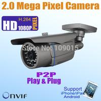 Outdoor 2 Megapixel IP camera H.264 IP Network Camera Varifocal Lens, Support  POE, SD card, Onvif are optional KE-HDV320