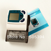 Free shipping Digital Wrist Blood Pressure Monitor & Heart Beat Meter #8276