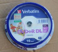 Wholesale Verbatim Printable DVD discs 8X DVD+R DL, 10pcs= a lot = a pack  8.5G blank dvd dl