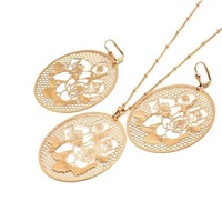 Exotic Flavour 18k Gold plated Jewelry Set Rose Flower