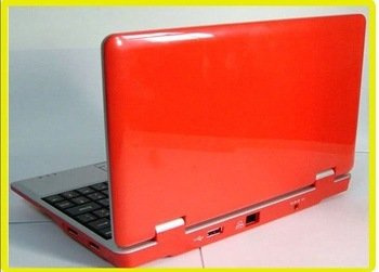 7 inch  WiFi Laptop Notebook Computer Netbook PC Andriod 2.2 system Red Color  Wholesale Free shipping