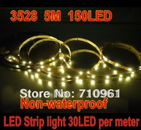 Free shipping, 3528 30leds per meter, 5m 150led led strip, non-waterproof, 50m/lot! wholesale price