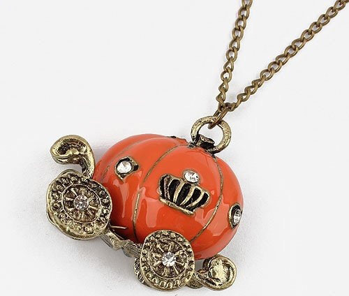 2015 New Fashion Hot Selling New Style Hot Sell Korean Pumpkin Car Necklace 66N124(China (Mainland))
