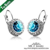 New Arrival Full Rhinestone Czech Diamond Earrings Crystal Drop Earrings 10pairs/lot Free Shipping