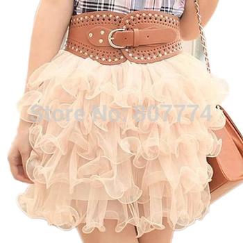 Freeshipping+Wholesale 2014 New Summer Lovely Mini Lace Puffy Women/Girl Short Tulle Ball SKirts Saias Feminina 6 Colors #2009