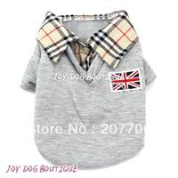 Fashionable Gray Dog T-Shirt, Dog Clothes, Nice Pet Sweat Shirt