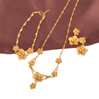 New Arrival Bridal Flower Wedding jewelry set (24k) for Free shipping