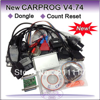 2013 new CARPROG FULL V4.74 carprog programmer repair tool with 21 part +dongle+count reset cable, car prog 4.74 diagnostic tool