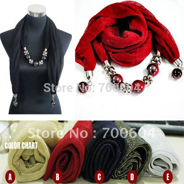 Free shipping 2012 latest fashion shining autumn jewelry scarf, mixed color scarves,direct factory supply(China (Mainland))