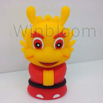 Cartoon Dragon King USB Memory Stick 4GB 8GB 16GB 32GB Real Capacity HKPAM FREE Shipping PVC Pen Drive PU0008(China (Mainland))