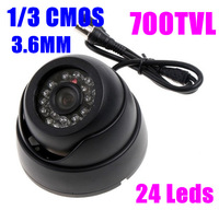 """2014 Hot Selling,new arrival !! 700tvl with 1/3"""" CMOS 24IR night vision Color IR Indoor Security Dome CCTV Camera,free shipping"""