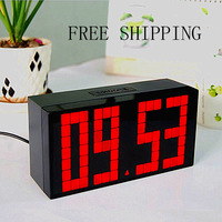 Free Shipping!!  Wholesale/Retail  luminous led  small alarm clock large screen