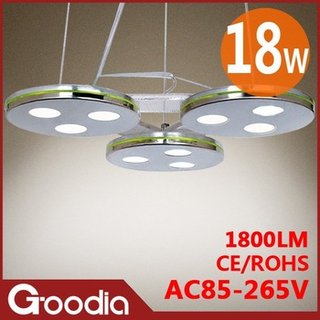 18w led pendant lamp,AC85~265V,luminarias,1800lm,Cool white/warm white,18w indoor light,18w pendant lights