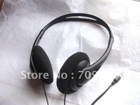 3.5mm low cost headsets wholesaler/disposable headphones with foam cushions/Min order:2000pcs