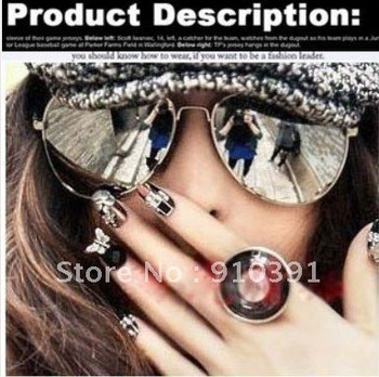 FreeShipping,Retail pack New Summer hot selling Fashion Designer Brand uvioresistant sunglasses anti UV4000 unisex star eyewear