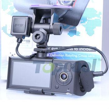 Quality Original X3000 Car DVR Dual Lens GPS Logger G-sensor and 2.0 mega pixel Car Video Camera Registrator Free shipping