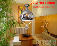 Free shipping Single-head modern chandelier light fixture ceiling lamp crystal chandeliers pendant lamp lighting