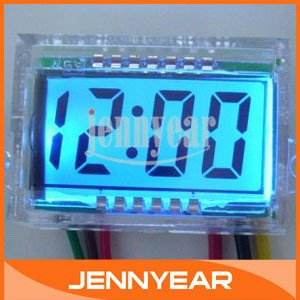 100 PCS/LOT DC Blue Screen LCD Die elektrische Zeituhr DC12 V Waterproof  Digital Clock #090767