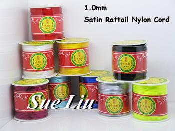 1mm Rattail Satin Cord Chinese Knot Beading Cord: Nylon 80yd Spool NCN7S