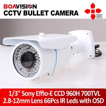 SONY Effio 700TVL Security Outdoor Camera IR 196ft Range 2.8-12mm Lens 66Leds Waterproof Camera Surveillance Camera