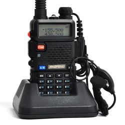 BAOFENG UV-5R Dual Band Transceiver 136-174Mhz & 400-520Mhz Two Way Radio Intercom with FREE PTT EARPHONE A0850A(China (Mainland))